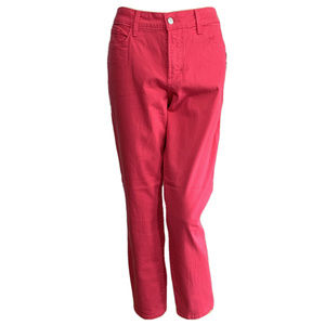 NYDJ Clarissa Ankle Jeans Pink Exotic Melon 10 NWT